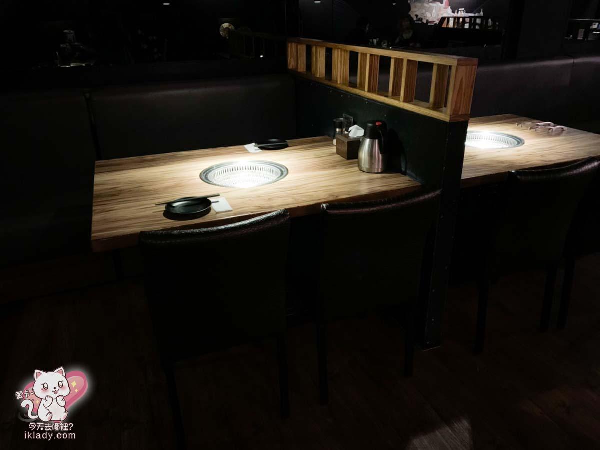 大股燒肉,疫情期間,座位與桌別都採用梅花座方式。